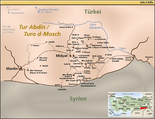 Map Of Tur Abdin Mesopotamia This Is The Map Of Tur
