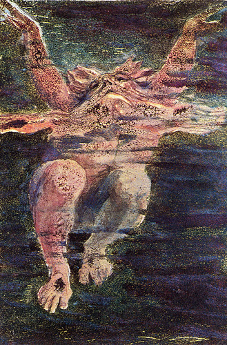 William Blake, Urizen struggling in the waters of materialism, 1794 | by Bromirski