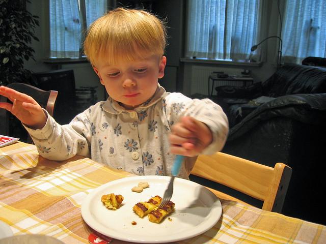 Louis eet zijn eerste verloren brood