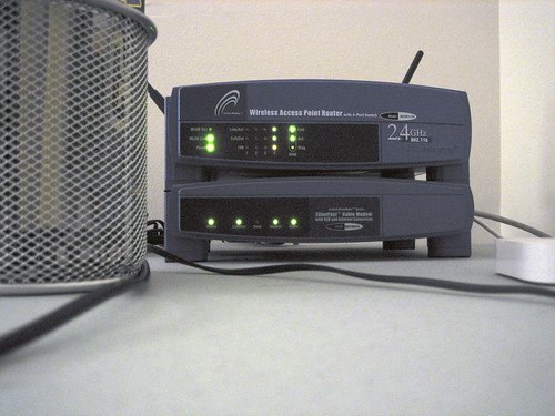 Wireless Router and Cable Modem | by fuzzcat