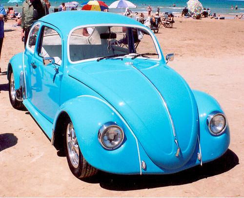 Punch Buggy Blue  Custom VW Classic Bug While leather inte  Flickr