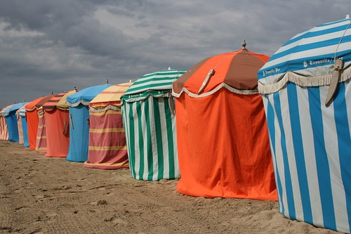 Beach Parasols at Trouville | by Parksy1964