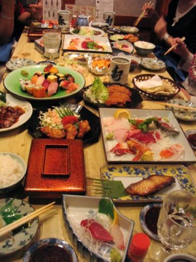 mesa comida japonesa