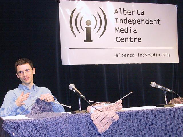 Revolutionary Knitting Circle : Revolutionary knitting press conference on june