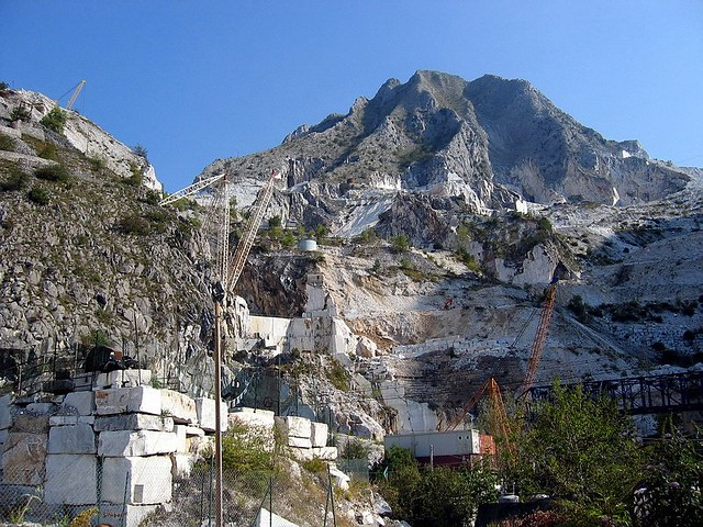 Marble Mountain Apuan Alps In Carrara Italy 187 More Info