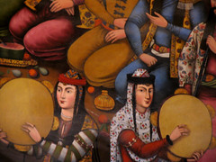 PERSIAN DANCERS AND MUSICIANS-16th CENTURY