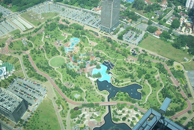KLCC Park and Pool From the top it looks like a miniscule