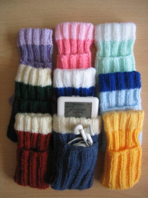 Knitting Pattern For Ipod Sock : Hand-knitted iPod socks As knitted by my Mum and made famo? Flickr