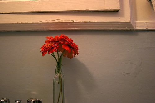 flowers in mom's bathroom | by chrisglass