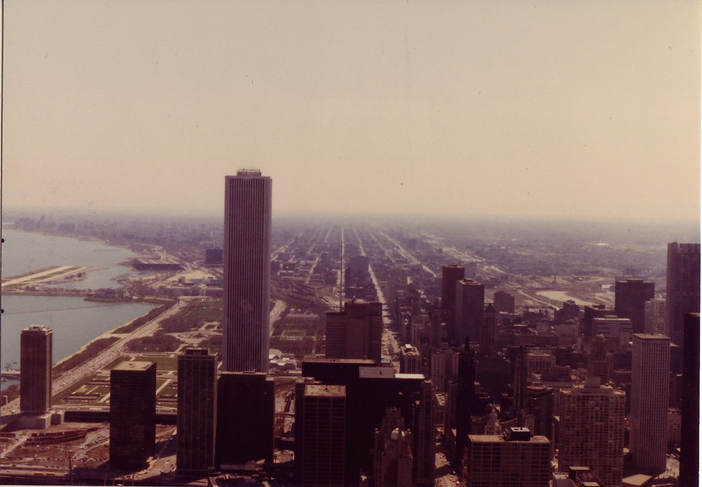 Chicago in the 1980s | Looking South From the John Hancock ... | 1024 x 710 jpeg 120kB