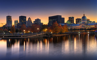 Sundown on old montreal skyline hdr sunset on montreal s - Coucher de soleil montreal ...