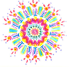 "0407 Neocolor II Watercolor Mandala | by Stephanie ""Biffybeans"" Smith"