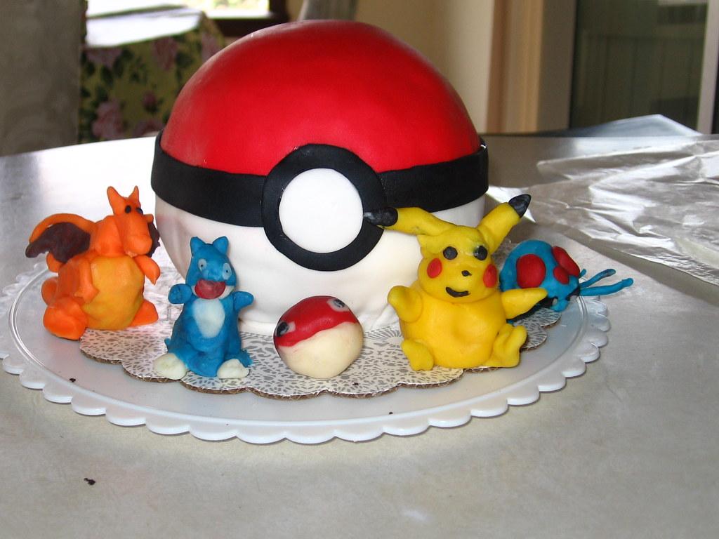 Pokemon Cake Blake S Pokeball Cake Barbara Gallay Flickr