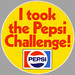 Pepsi Challenge Sticker - Early 1980's