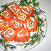 smoked salmon roulade with Boursin cheese and scallions