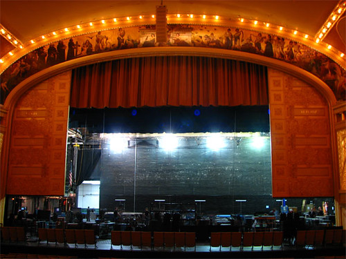 Stage and proscenium arch | The stage gets set up for ...