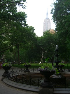 The Empire State Building through the haze of Madison Square Park | by permanently scatterbrained