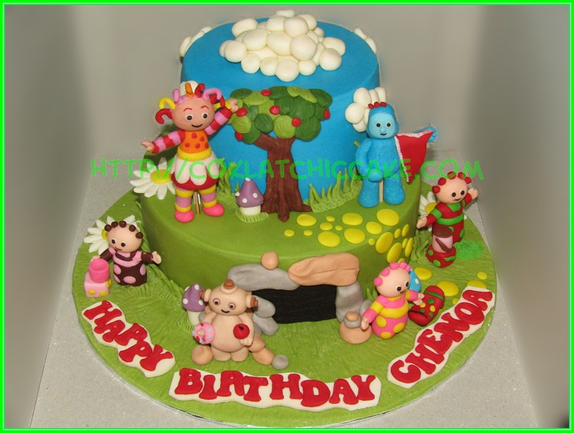 Cake in the night garden