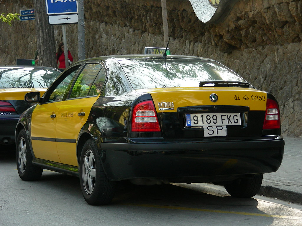 Skoda taxi skoda octavia taxi in barcelona spain so cal metro flickr - Cab in barcelona ...