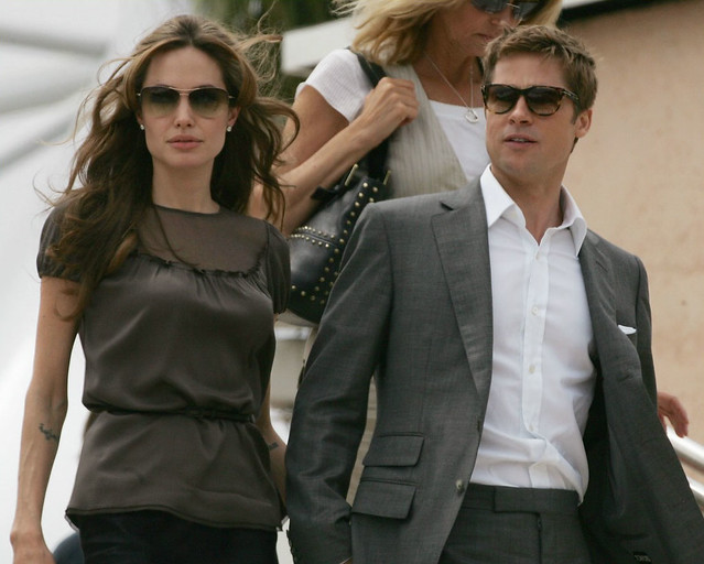 Brad Pitt and Angelina Jolie Image source:https://www.flickr.com/photos/79694663@N00/510889830/