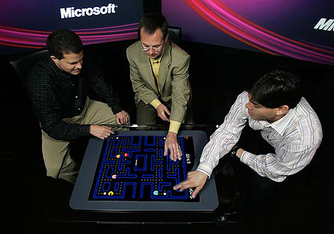 microsoft surface tabletop pacman after years of researc flickr
