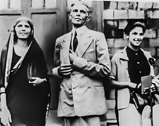 Jinnah with his sister Fatima and daughter Dina | by Doc Kazi