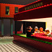 copia d'arte Lego - Nighthawks - Nottambuli - Homage a Edward Hopper