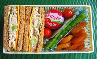 Sandwich and asparagus lunch for two toddlers | by Biggie*