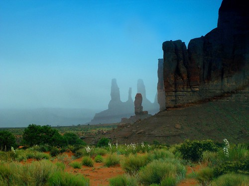 Three Sister & The Thumb at Spring Mist Monument Valley, Navajo Nation Tribal Park, Arizona, USA | by Nihihiro & Shihiro