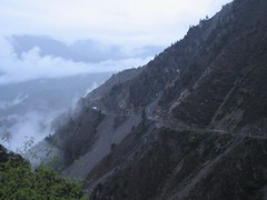 The landslide that took out the mountain road was less fun.