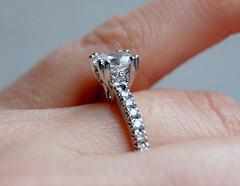 Platinum Eternity Diamond Marriage Ring Thin