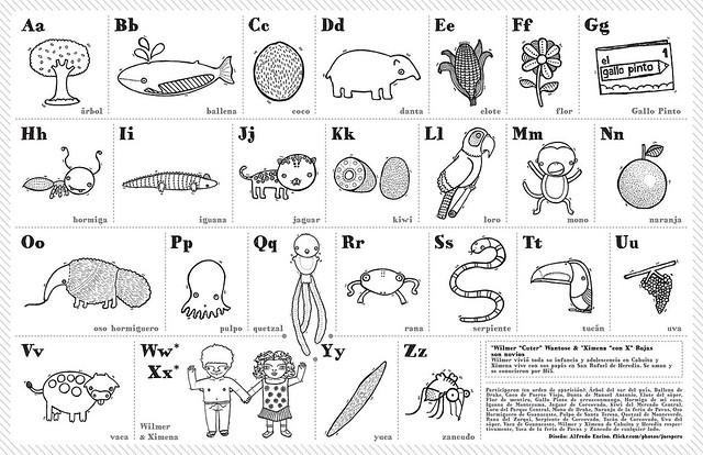Gallo Pinto | Alfabeto ilustrado para colorear en la fiesta … | Flickr