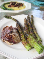 grilled radicchio and  asparagus | by tofu666