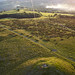 Kite view of Garth Mountain Tumulus & self portrait