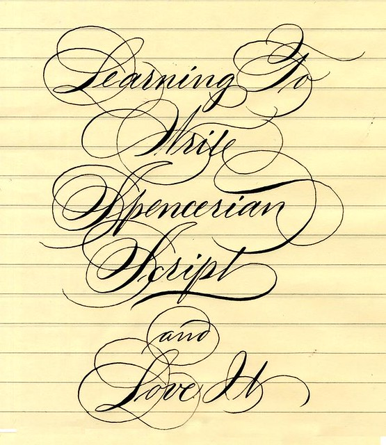 Spencerian Script Barbara Calzolari Flickr