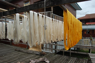 Drying the dyed Silk | by Syeefa Jay