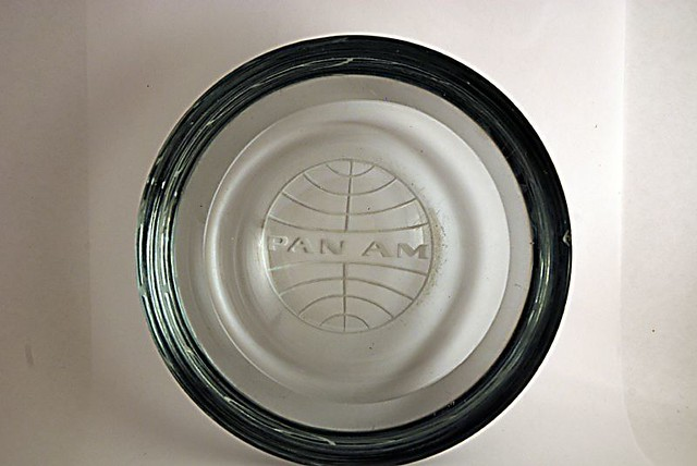 pan am glass a beautiful heavy glass ashtray with the