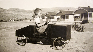 vintage: grandpa driving a fancy car | by freeparking :-|
