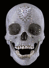 Damien Hirst's diamond-studded skull. | by Secretly Ironic
