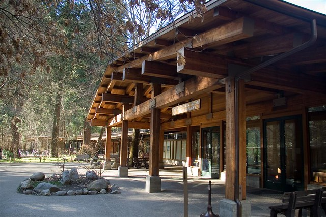 yosemite lodge at the falls recently improved entrance. Black Bedroom Furniture Sets. Home Design Ideas