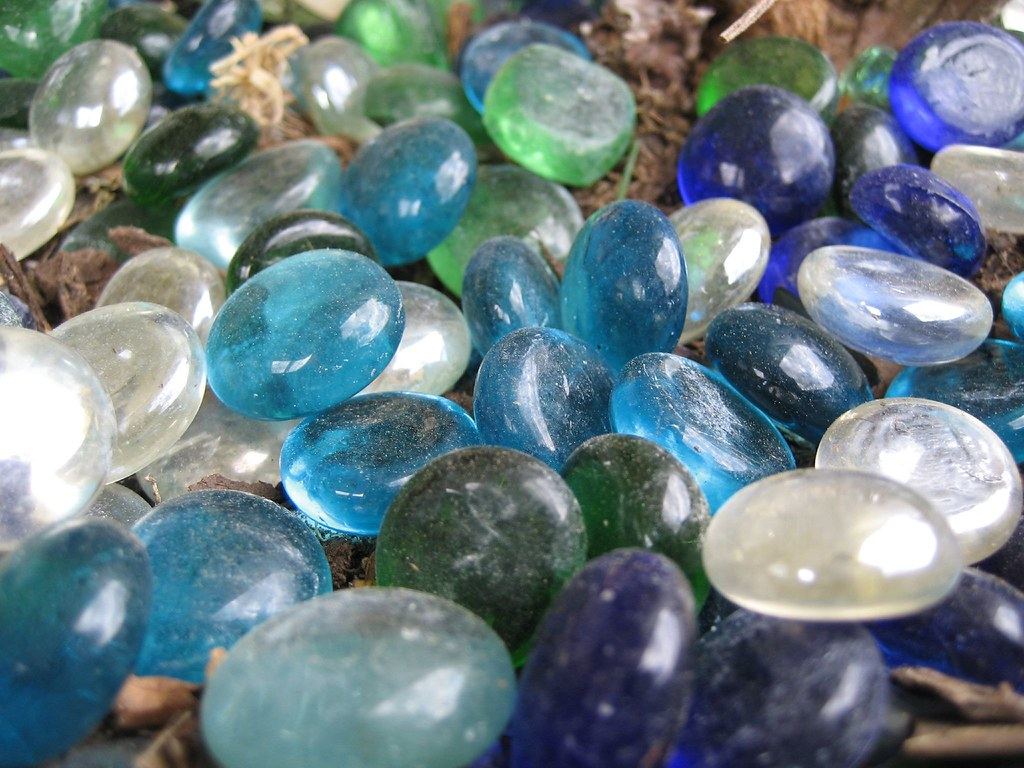White Decorative Stones : Blue white green decorative stones rockbridge county virgi