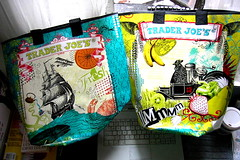 Super-cool reusable Trader Joe's Grocery Bags | by pondblue