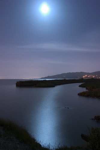 Moonrise Over Tiburon | by Andy Frazer