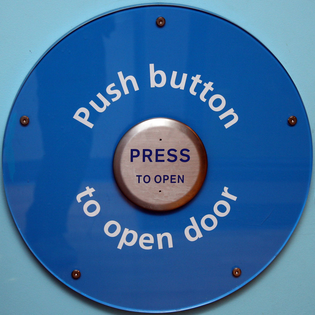 push button to open door playtyne discovery museum newcas flickr. Black Bedroom Furniture Sets. Home Design Ideas