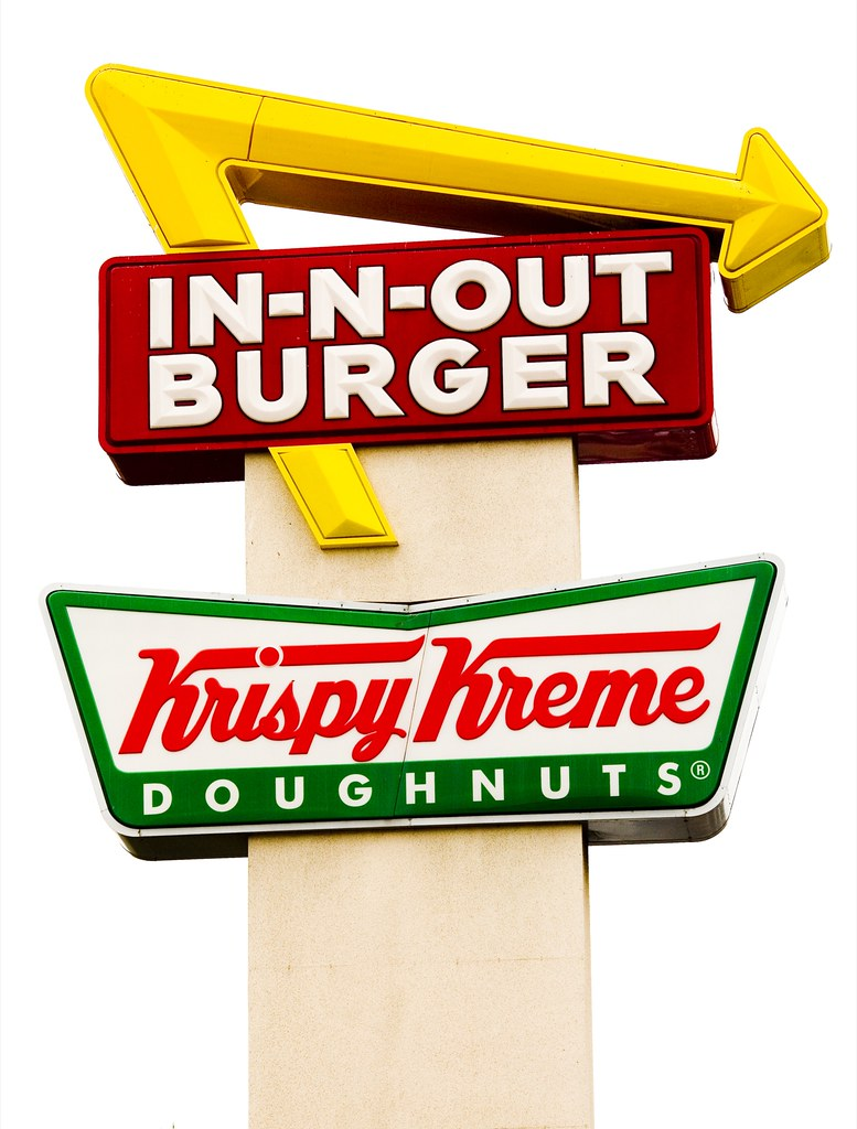 in n out burger and krispy kreme thomas hawk flickr. Black Bedroom Furniture Sets. Home Design Ideas