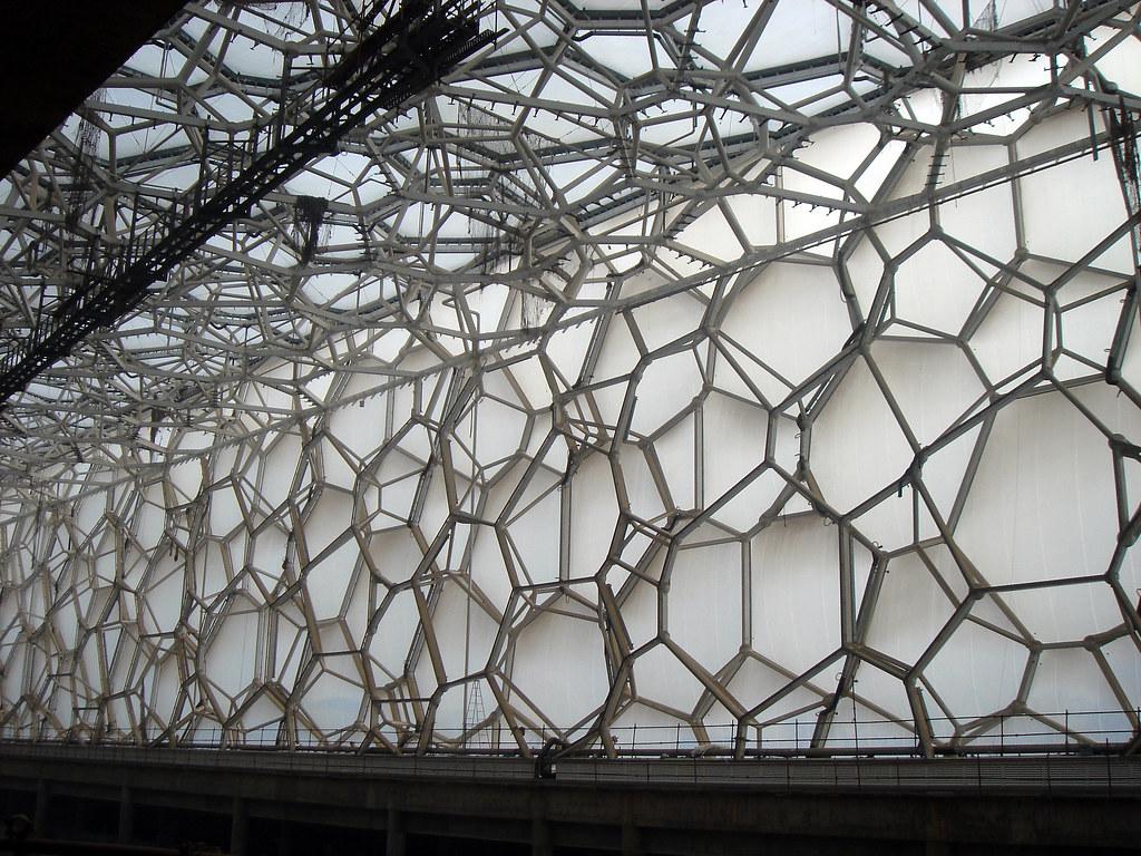 Watercube under construction - interior - 2007-1-24 (3 ...