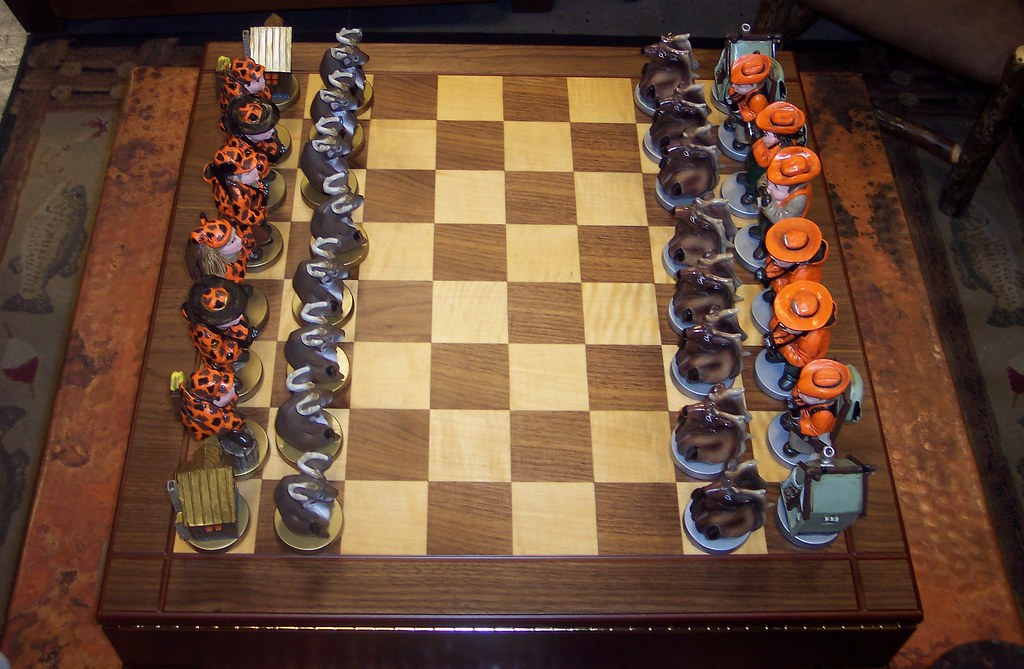 Deer Versus Hunter Chess Board Saw This Funny Chess