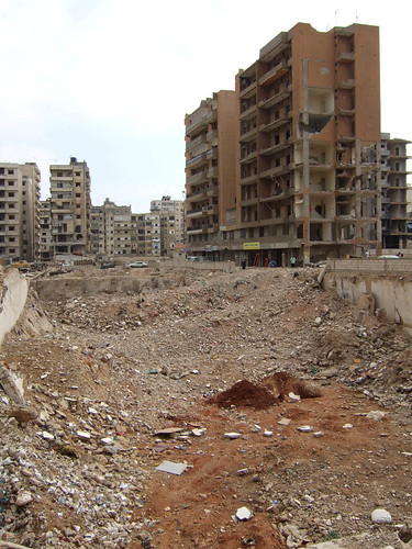 Dahiyeh District, South Beirut, bombed by Israel in 2006 | by delayed gratification
