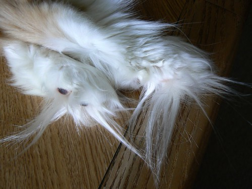 White Furry Soft Pillow Cat Tail Japanese