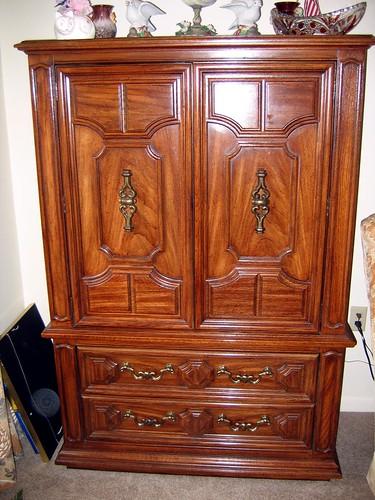 Sold Thomasville Pecan Br Armoire Thomasville